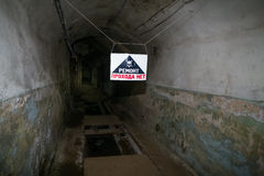 Secret Communist Party Nuclear Bunker and Shelter -  Dangerous. Secret Communist Party Nuclear Bunker and Shelter - Dangerous Royalty Free Stock Image