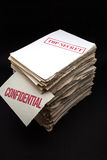 Secret and confidential. Lot of secret and confidential documents Stock Photos