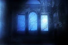 Secret corner. Image of a secret room engulfed in dark misty atmosphere Royalty Free Stock Images