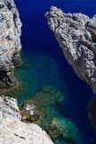 Secret cove Rhodes Greece Royalty Free Stock Photos