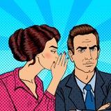 Secret de chuchotement de jeune femme à son mari Art de bruit Images libres de droits