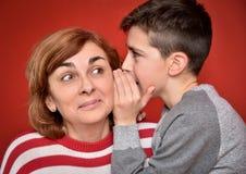 Secret de famille Photo libre de droits