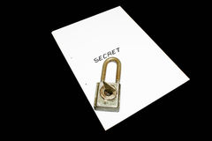 secret de fichier Photographie stock libre de droits