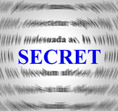 Secret Definition Indicates Hidden Secretly And Concealed. Secret Definition Showing Meaning Means And Hidden Royalty Free Stock Image