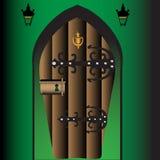Secret door Royalty Free Stock Image