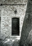 Secret door. Old door in the garden of the castel of Queen Mary, in Balchik, Bulgaria Stock Images