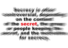 Secret effect. Secret red type with all text in effect background Stock Images