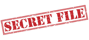 Secret file red stamp. On white background Stock Images