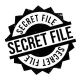 Secret File rubber stamp. Grunge design with dust scratches. Effects can be easily removed for a clean, crisp look. Color is easily changed Stock Images