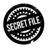 Secret File rubber stamp. Grunge design with dust scratches. Effects can be easily removed for a clean, crisp look. Color is easily changed Royalty Free Stock Photo