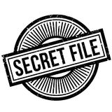 Secret File rubber stamp. Grunge design with dust scratches. Effects can be easily removed for a clean, crisp look. Color is easily changed stock illustration