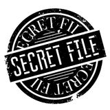 Secret File rubber stamp. Grunge design with dust scratches. Effects can be easily removed for a clean, crisp look. Color is easily changed Stock Photography