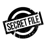 Secret File rubber stamp. Grunge design with dust scratches. Effects can be easily removed for a clean, crisp look. Color is easily changed Stock Image