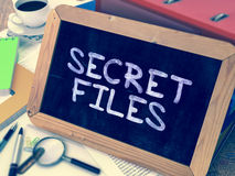 Secret Files Concept Hand Drawn on Chalkboard Royalty Free Stock Image