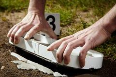 Secret of footprint stock photography