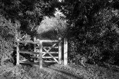 Secret Garden. A swing gate in the countryside Stock Photos