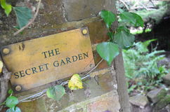 The secret garden. royalty free stock images