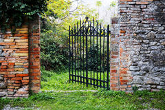 The secret garden of the castle Royalty Free Stock Image