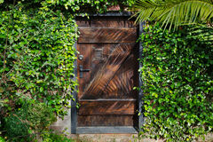 Secret Garden Door Horisontal Stock Image