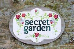 Secret garden sign Royalty Free Stock Image