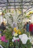 The Secret Garden theme flower decoration during famous Macy s Annual Flower Show stock photo