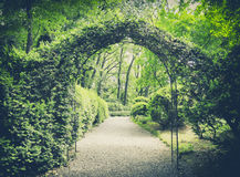 Secret garden in vintage style Royalty Free Stock Photography