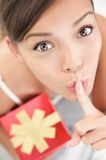 Secret gift surprise Stock Images