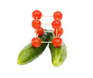 Secret of health - tomatoes and cucumbers Royalty Free Stock Photography