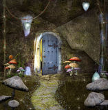 Secret house. Dwarf's enchanted secret house Stock Images