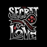 Secret ingredient is always love lettering. Vintage vector illustration. Royalty Free Stock Photos