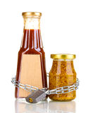 Secret ingredients with chain and padlock Royalty Free Stock Photo