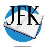 Secret JFK files isolated on white background stock photography