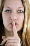 Secret (keep silence) Royalty Free Stock Photos