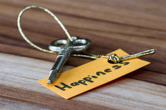 Secret key for a happy life Royalty Free Stock Image