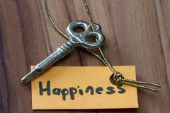 Secret key for a happy life Stock Photos