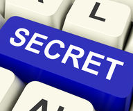 Secret Key Means Confidential Or Discreet. Secret Key On Keyboard Meaning Confidential Undisclosed Or Discreet Royalty Free Stock Image