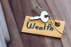Secret key for a wealthy life Stock Images