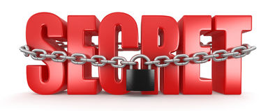 Secret and lock (clipping path included) Stock Photography