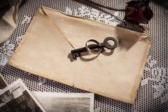 Secret of love letter. Stock Images