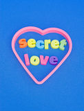 Secret love. St. Valentine's day message. Stock Image