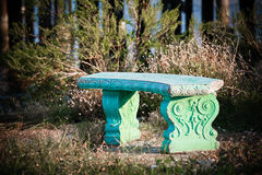 Secret Lovers Garden Bench Stock Photo