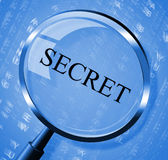 Secret Magnifier Shows Undisclosed Discreet And Searches Stock Images