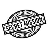 Secret Mission rubber stamp Royalty Free Stock Photography