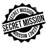 Secret Mission rubber stamp Royalty Free Stock Image