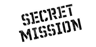 Secret Mission rubber stamp Stock Photos