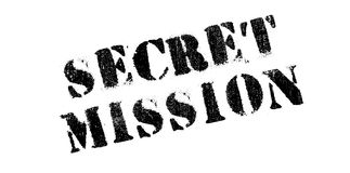 Secret Mission rubber stamp Stock Photography