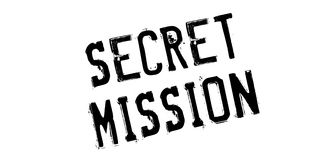 Secret Mission rubber stamp Royalty Free Stock Photos