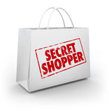 Secret Mystery Shopper Shopping Bag Store Evaluation Royalty Free Stock Images