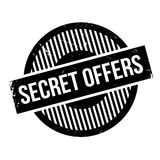 Secret Offers rubber stamp. Grunge design with dust scratches. Effects can be easily removed for a clean, crisp look. Color is easily changed royalty free stock photo