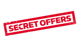 Secret Offers rubber stamp Stock Image